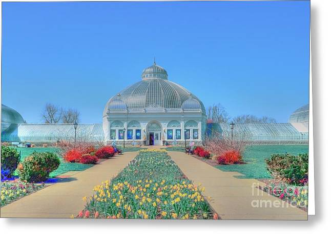 Spring At The Gardens Greeting Card by Kathleen Struckle