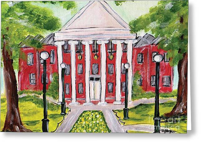 Sec Greeting Cards - Spring at the Ole Miss Lyceum  Greeting Card by Tay Morgan