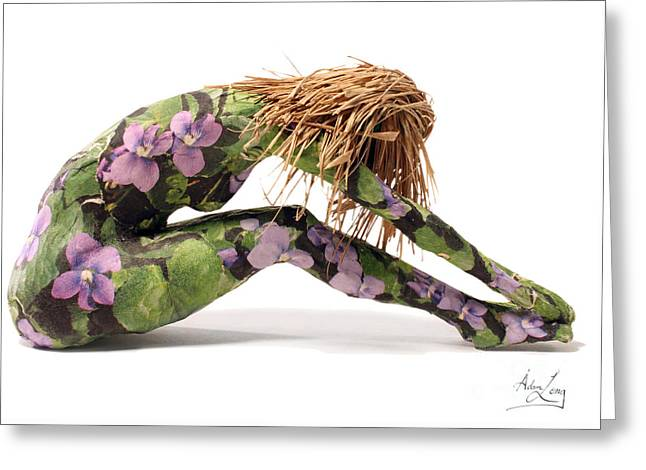 Female Body Mixed Media Greeting Cards - Spring Awakens Sculpture Greeting Card by Adam Long