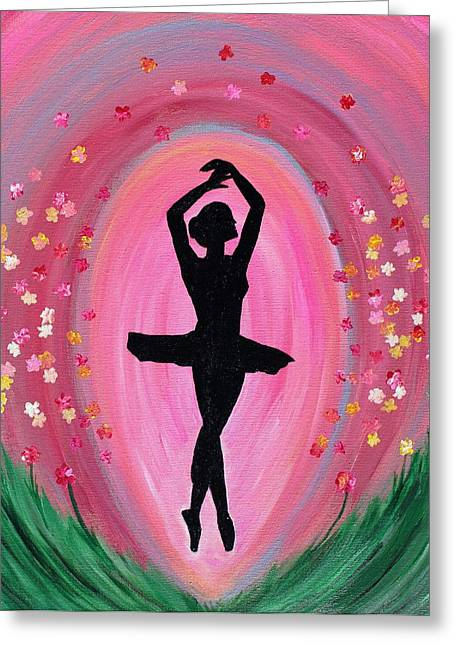 Spring Ballet Dancer Greeting Card by Vicki Kennedy