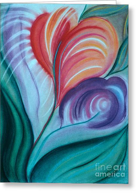 Dew Pastels Greeting Cards - Spring Greeting Card by Birgit Seeger-Brooks