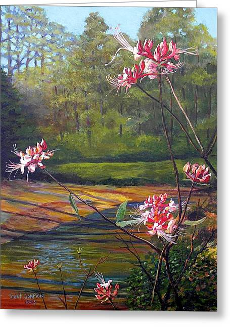 Natchez Trace Greeting Cards - Spring Blooms on the Natchez Trace Greeting Card by Jeanette Jarmon