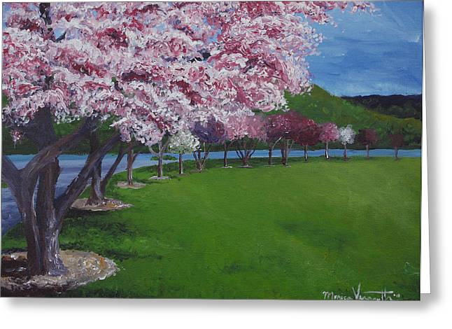 Spring Blossoms Greeting Card by Monica Veraguth