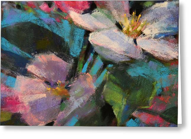 Pink Blossoms Pastels Greeting Cards - Spring Blush Greeting Card by Jennifer Evenhus