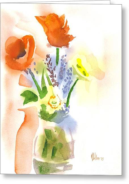 Interior Watercolour Greeting Cards - Spring Bouquet II Greeting Card by Kip DeVore