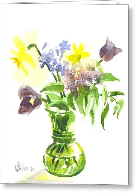 Interior Still Life Paintings Greeting Cards - Spring Bouquet III Greeting Card by Kip DeVore