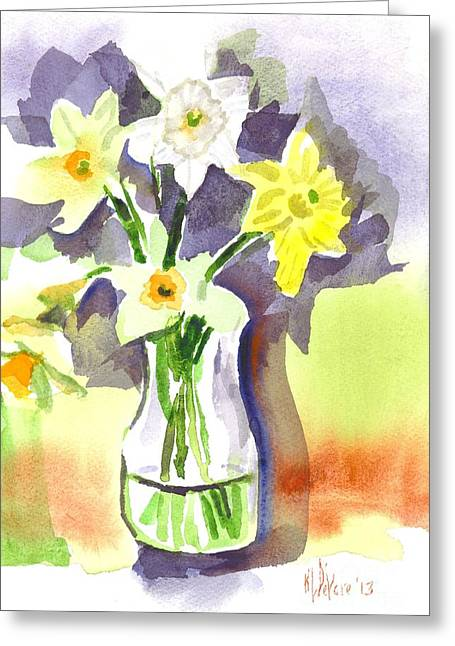 Interior Watercolour Greeting Cards - Spring Bouquet Greeting Card by Kip DeVore