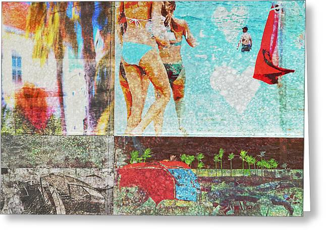 Swimsuit Photo Greeting Cards - Spring Break At The Beach Greeting Card by Susan Stone