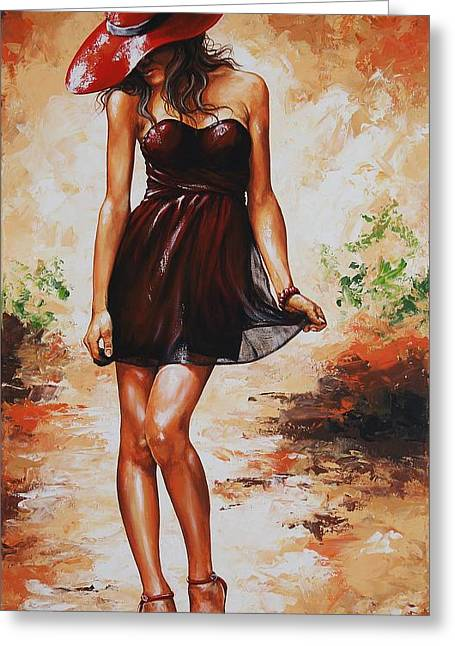 Spring Fashion Greeting Cards - Spring breeze 04 Greeting Card by Emerico Imre Toth