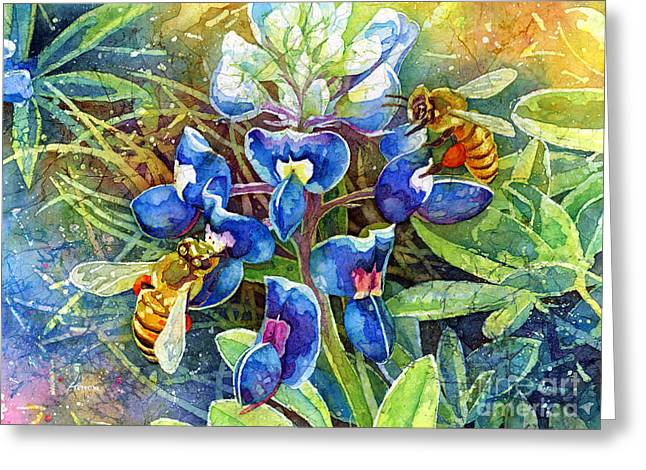 Texas Wild Flowers Greeting Cards - Spring Breeze Greeting Card by Hailey E Herrera