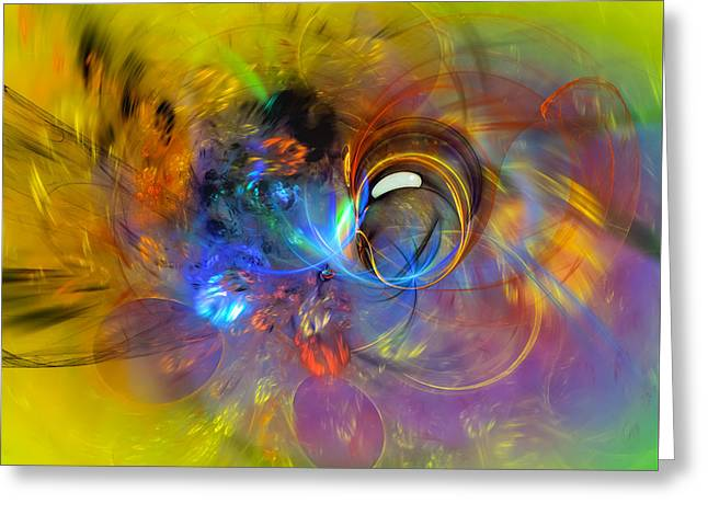 Science Greeting Cards - Spring Bubble Greeting Card by Modern Art Prints