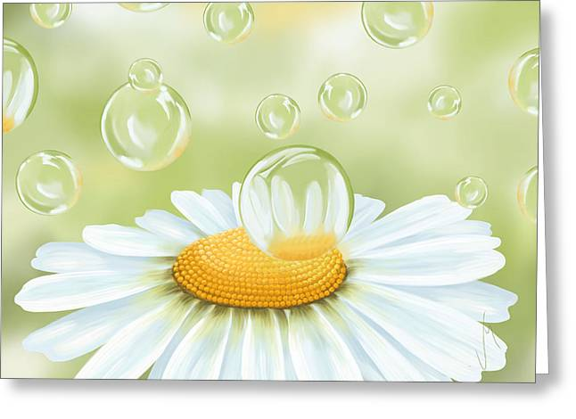 Daisy Digital Greeting Cards - Spring bubble Greeting Card by Veronica Minozzi
