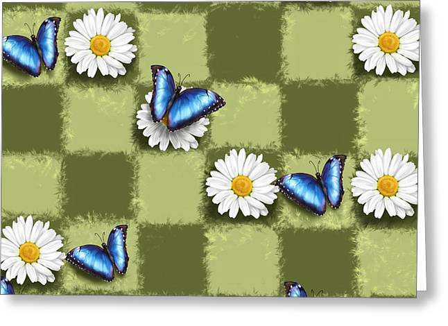 Daisy Greeting Cards - Spring checkers Greeting Card by Veronica Minozzi