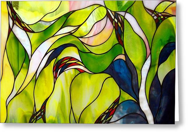 Flow Glass Greeting Cards - Spring Greeting Card by Christine Alexander