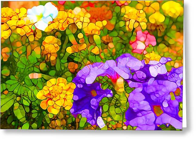 Easter Flowers Greeting Cards - Spring Colors Greeting Card by Dan Sproul
