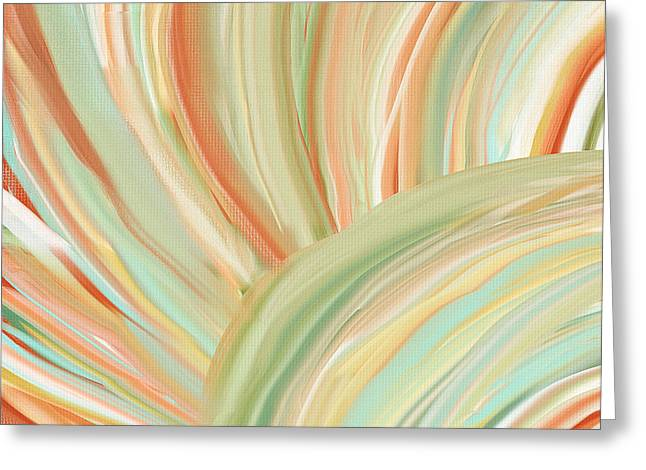 Soft Light Paintings Greeting Cards - Spring Colors Greeting Card by Lourry Legarde