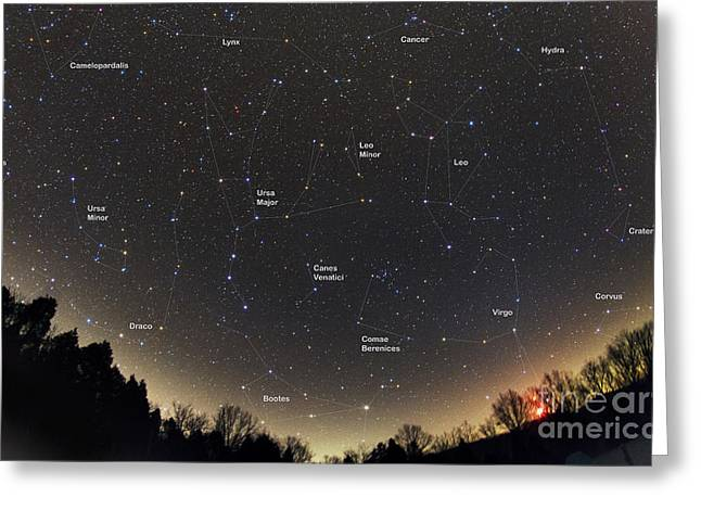 Little Dipper Greeting Cards - Spring Constellations & Star Colors Greeting Card by John Chumack