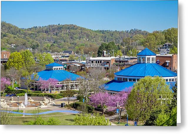 Chattanooga Tn Greeting Cards - Spring Coolidge Park Greeting Card by Tom and Pat Cory