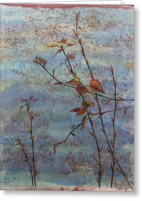 Spring Tapestries - Textiles Greeting Cards - Spring Cottonwood Greeting Card by Carolyn Doe
