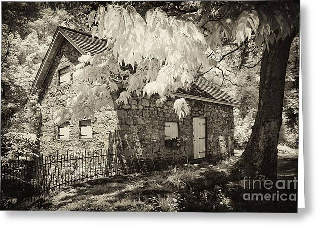 Stone House Greeting Cards - Spring Creek Mill Greeting Card by Paul W Faust -  Impressions of Light