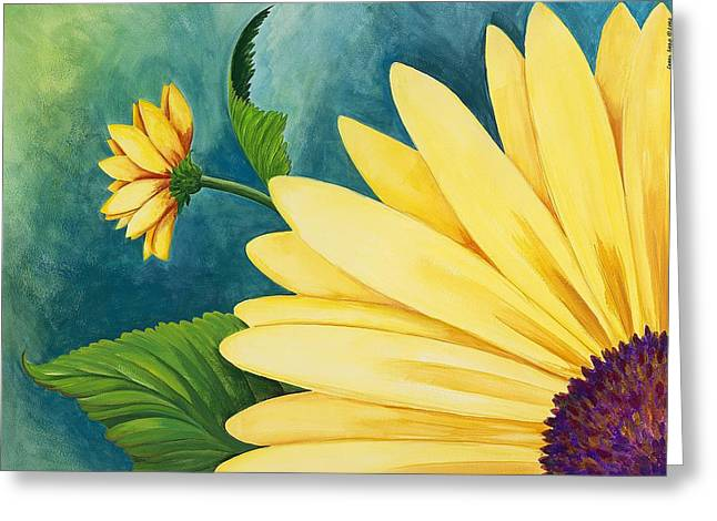 Spring Daisy Greeting Card by Carol Sabo