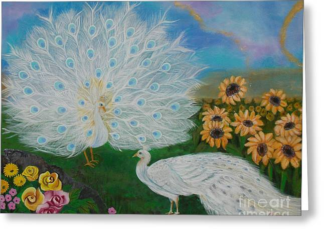 Recently Sold -  - Yellow Sunflower Greeting Cards - Spring Dance Greeting Card by To-Tam Gerwe