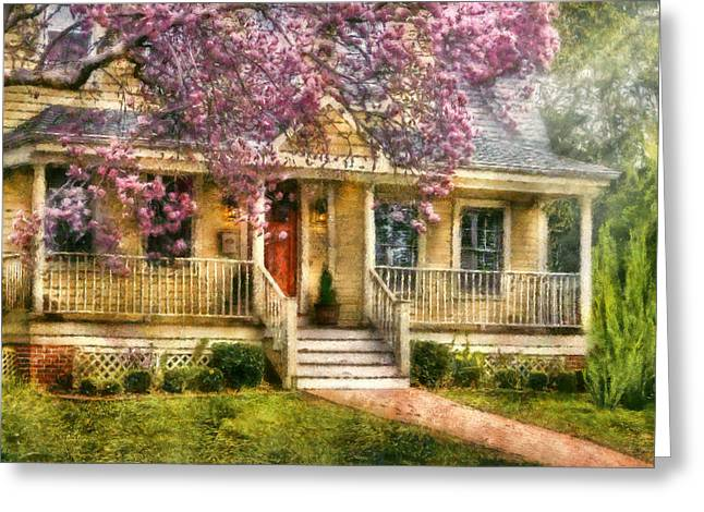 Spring - Door - Vacation House Greeting Card by Mike Savad