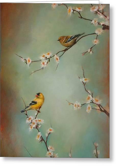 Beautiful Flowering Trees Greeting Cards - Spring Dream Greeting Card by Lori  McNee