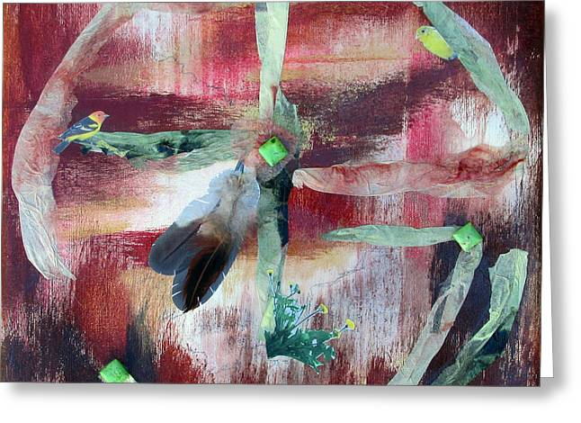 Abstract Style Greeting Cards - Spring Dream - Peace Circle Greeting Card by Chris Morningforest