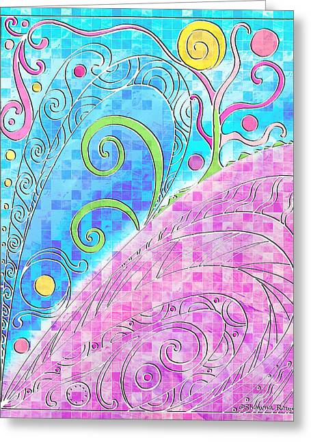 Spring Equinox Greeting Card by Shawna Rowe