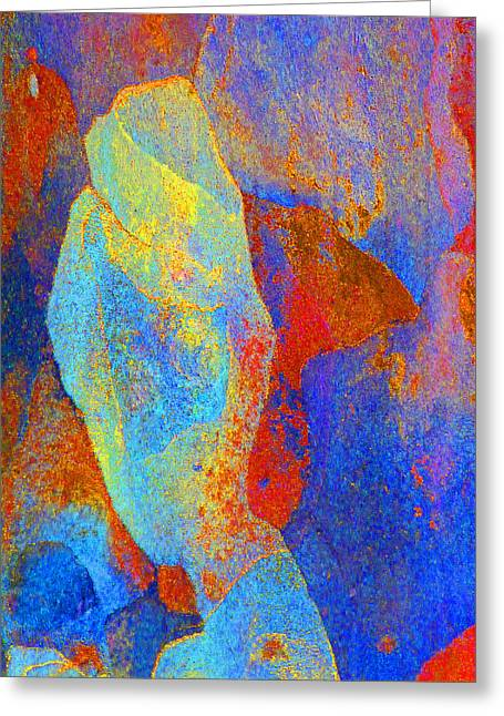 Coloured Bark Greeting Cards - Spring Eucalypt Abstract 13 Greeting Card by Margaret Saheed