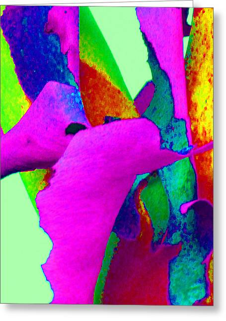 Fantasy Tree Greeting Cards - Spring Eucalypt Abstract 15 Greeting Card by Margaret Saheed