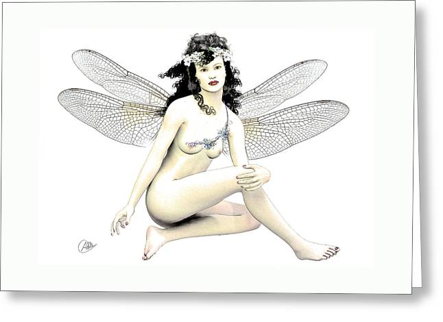 Spring Fairy  Greeting Card by Quim Abella