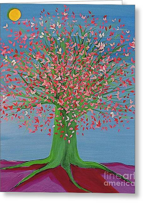 First Star Art Greeting Cards - Spring Fantasy Tree by jrr Greeting Card by First Star Art