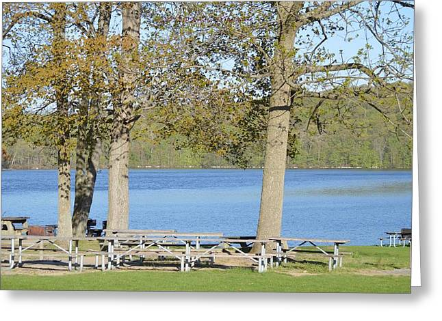 Besides Greeting Cards - Spring fed Shepherd Lake Greeting Card by Sonali Gangane