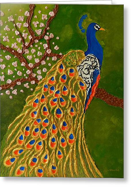 Birds Reliefs Greeting Cards - Spring Feelings Greeting Card by Liza Wheeler