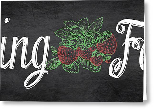 Strawberry Art Greeting Cards - Spring Fever-Strawberries Greeting Card by Jean Plout