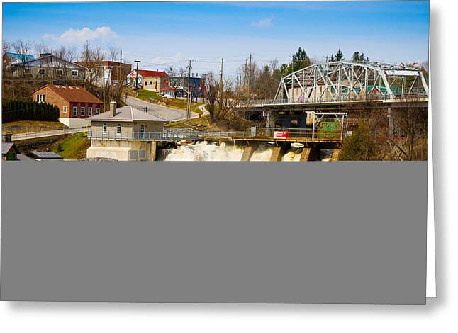 Spring Flood At Hydro Falls On Muskoka Greeting Card by Panoramic Images