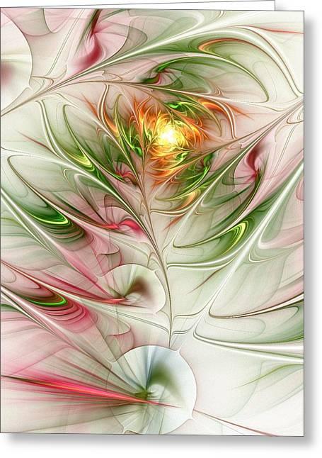 Spring Flower Greeting Card by Anastasiya Malakhova