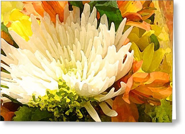 Spring Flower Burst Greeting Card by Amy Vangsgard