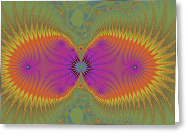 Geometric Design Greeting Cards - Spring Flower Greeting Card by Corey Ford