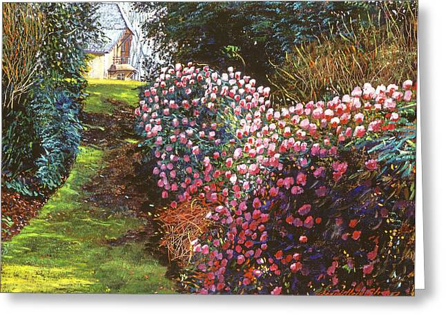 Flowering Bush Greeting Cards - Spring Flower Fantasy Greeting Card by David Lloyd Glover