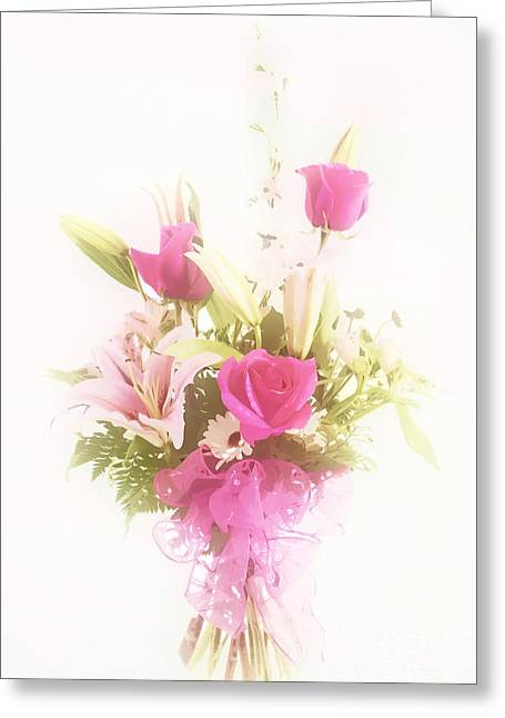 Photographs Pastels Greeting Cards - Spring flower Pastel Paint arrangement in Color 3176.02 Greeting Card by M K  Miller