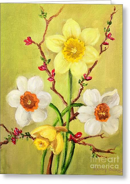 Spring Flowers 2 Greeting Card by Randy Burns