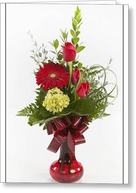 Vase Framed Prints Greeting Cards - Spring Flowers 8049.02 Greeting Card by M K  Miller