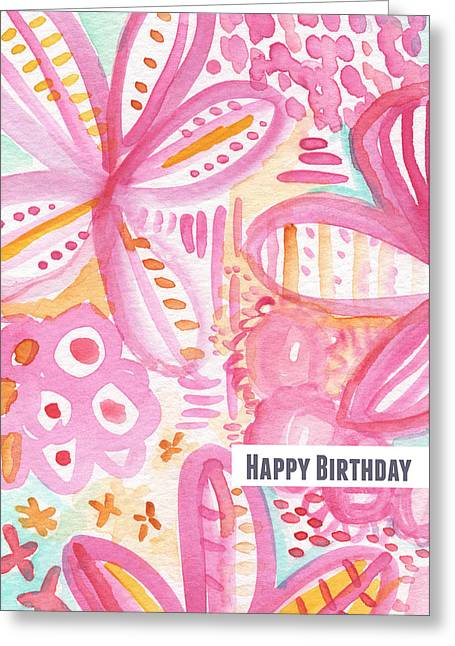 Flower Greeting Cards - Spring Flowers Birthday Card Greeting Card by Linda Woods