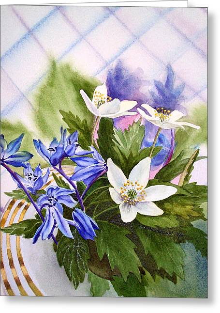 Jasmine Greeting Cards - Spring Flowers Greeting Card by Irina Sztukowski