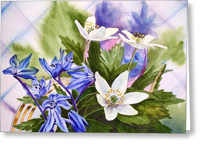 Landscape. Scenic Greeting Cards - Spring Flowers Greeting Card by Irina Sztukowski