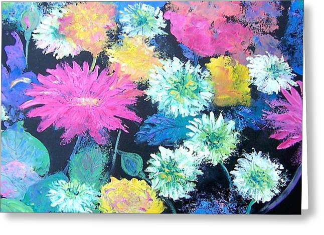 Pink And Purple Flowers Greeting Cards - Spring Flowers Greeting Card by Jan Matson