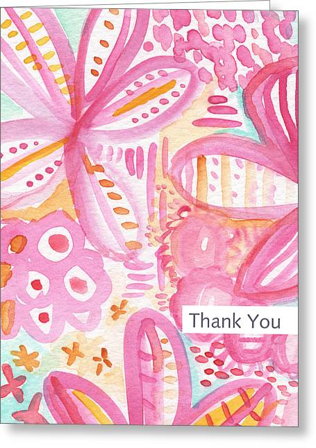 Wedding Shower Greeting Cards - Spring Flowers Thank You Card Greeting Card by Linda Woods